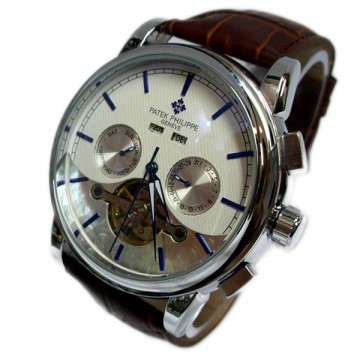 Patek Philippe Silver Brown Analog Automatic