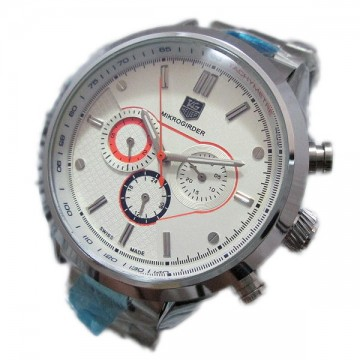 Tag Heuer White Red Analog Automatic