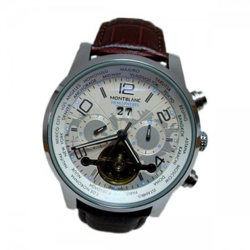 Montblanc Tourbillon White Brown Analog Automatic