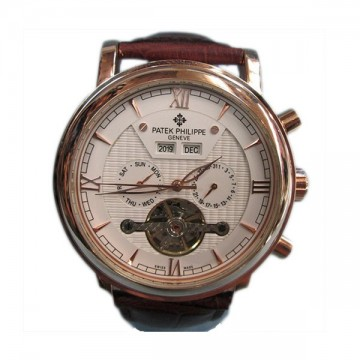 Patek Philippe Putih List Emas Analog Automatic