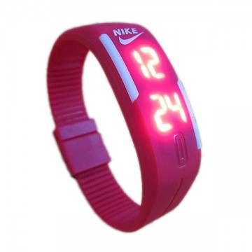 Nike LED Rubber Red Digital Baterai